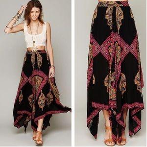 NWT! FREE PEOPLE Boho Festival Gypsy Maxi Skirt L